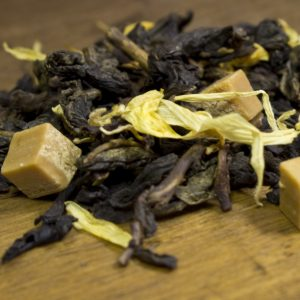 oolong tea leaves caramel