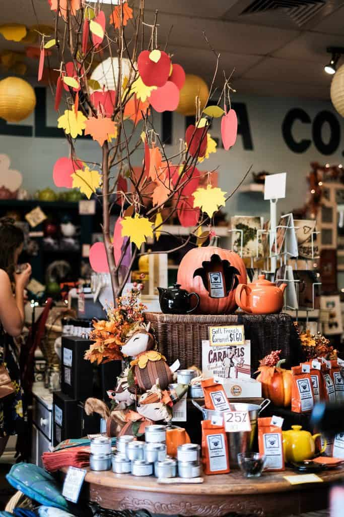 Fall tea fest gift table display
