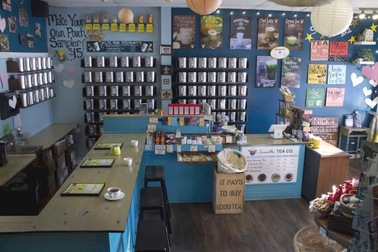 tea bar wall tins small business