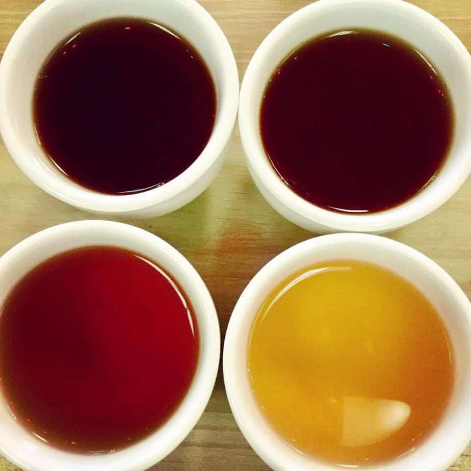 teacup tea tasting