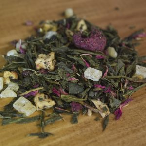 Raspberry Cream green tea