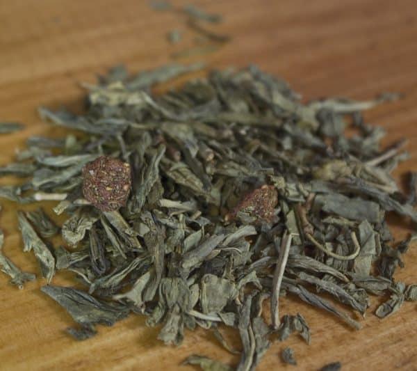 Strawberry Green Decaf tea