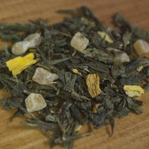 Pineapple green tea leaves