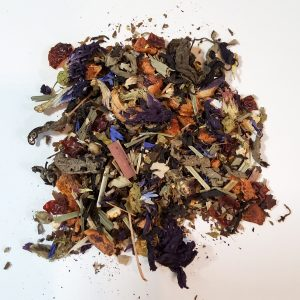 emerald violet herbal tea