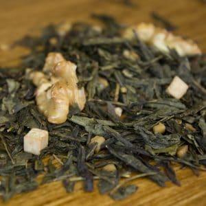 walnut caramel sesame green tea