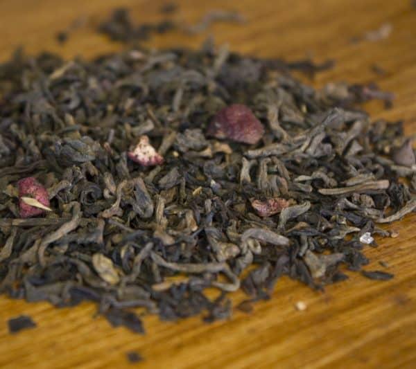 pomegranate chocolate puerh tea