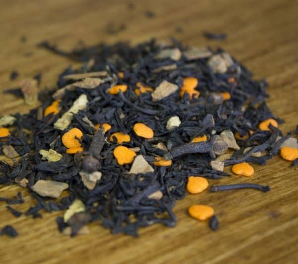 pumpkin spiced loose leaf tea chai