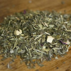 Peaceful herbal tea rosemary mint eucalyptus