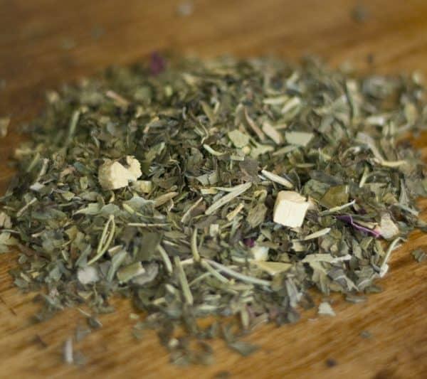 Peaceful herbal tea rosemary mint eucalyptus