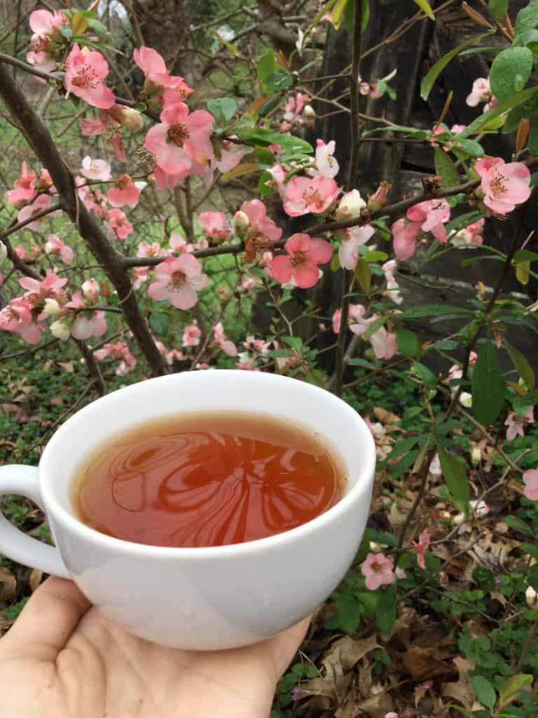 spring flowers tea