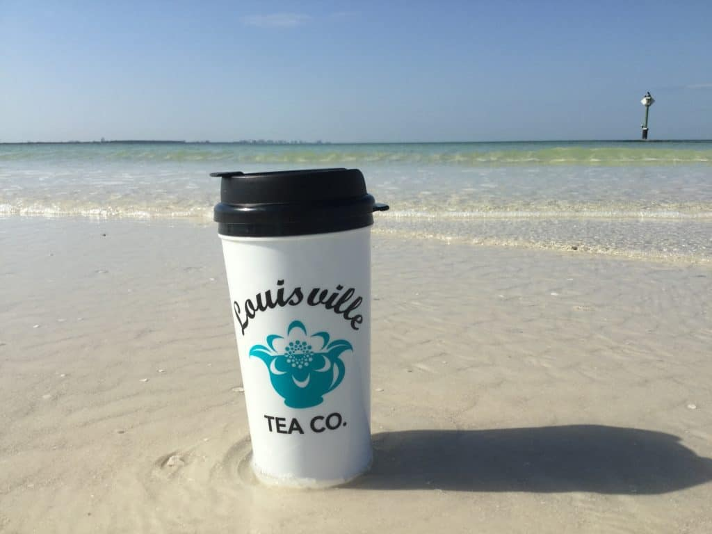 Louisville Tea co on the beach