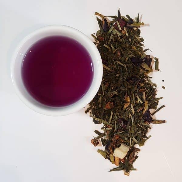 lemon lush purple green tea