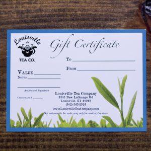 Louisville tea gift certificate