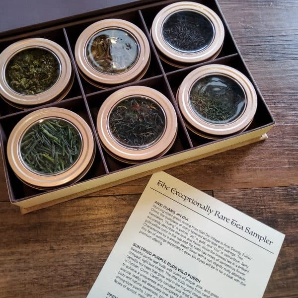exceptionally Rare tea sampler loose leaf