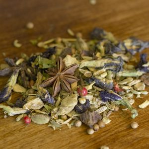 Blue Chai ginger spiced herbal tea