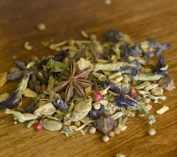 Blue Chai ginger spiced herbal tea