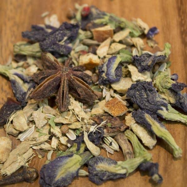 Blue Chai Herbal tea