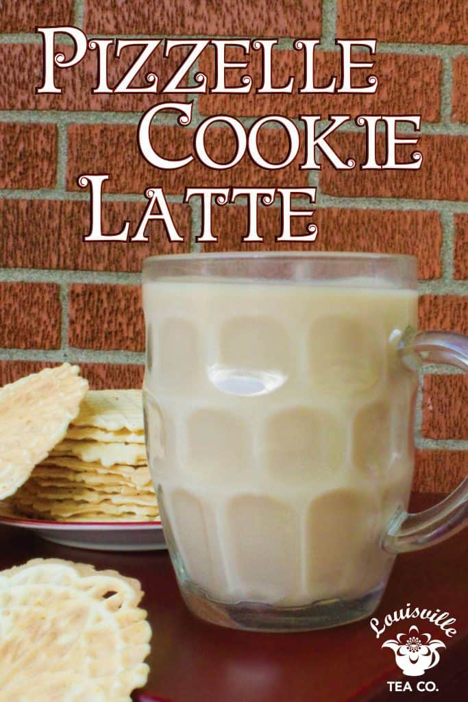 Pizzelle Cookie tea Latte