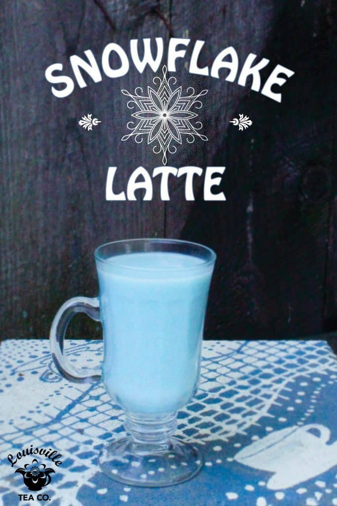 Snowflake Latte butterfly pea blossom tea