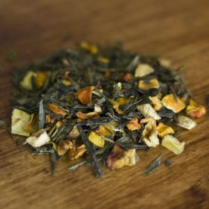 Golden Grapefruit green tea leaves