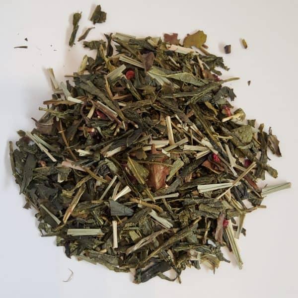 Pomegranate dragonfruit green tea