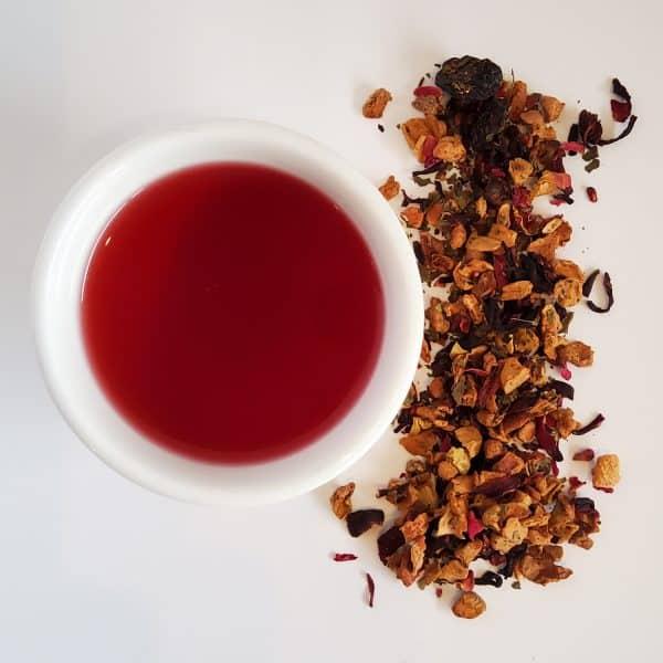 raspberry freeze fruit tea