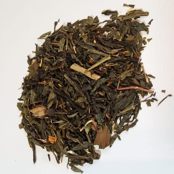 summer rose green tea